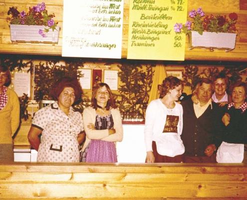 Heuriger Karl Baumgartner Team 1974